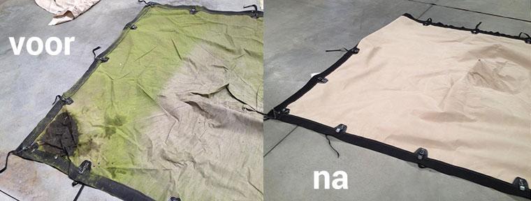 Voor en na zeilwasserij